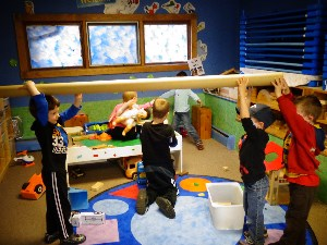 Cooperative play at Roberge Day Care