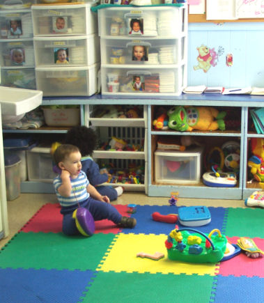The staff to child ratio for all children under the age of three years at Roberge Day Care is a maximum of 1:4