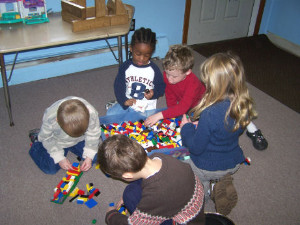 children playing at Roberge Daycare
